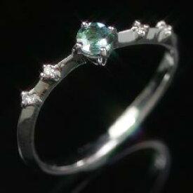 【クーポンで最大5000円OFF】アレキサンドライトエメラルドマイン社ブラジル産 ダイヤモンド リング レディース 指輪・ショッパリーゼ 10K K10 10金 稀少石 レアストーン カラーチェンジカラー 華奢 シンプル ファッションリング 可愛い