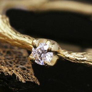【10月31日で販売終了】18K 「VVSクラス・エクセレントクラス」ダイヤモンド イエローゴールド ピンクゴールド ホワイトゴールドリング 指輪・ブランディーユ 婚約指輪 一粒ダイヤ 華奢 シンプル デザイン 女性 レディース K18 1