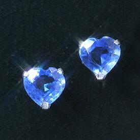 カイヤナイト K14ホワイトゴールドピアス レディース・レゾリッサ 珍しいカイヤナイトの大粒ハートシェイプカット! 可愛いピアス ジュエリー ブランド 宝石