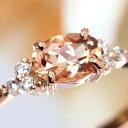 ブラジル・ミナスジェライス産インペリアルトパーズ リング 指輪 18K ダイヤモンド ピンクゴールド ホワイトゴールド…