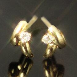 ダイヤモンド×K18ゴールドピアス・スタンファ(18K/18金)