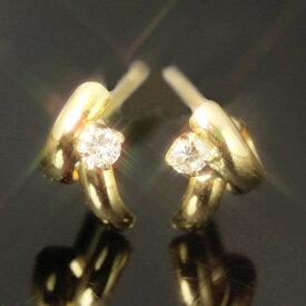 【あす楽対応】セカンドピアス レディース 18K 軸太 ダイヤモンド K18 ゴールド・スタンファ 18K 18金 華奢 シンプル 可愛いピアス お洒落 大人 イエローゴールド デザイン ダイアモンド ピアスポストが太い ポストが長い 福耳 おすすめ 人気 宝石 つけっぱなし