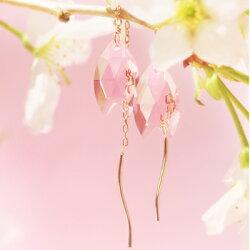 あす楽/桜/さくら/サクラ/花/春/揺れる/ロング/ゴールド/ホワイトゴールド/ピンクゴールドピアス/イヤリング