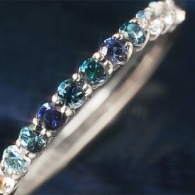 クーポンで最大3000円OFF!Pt900 ブルーダイヤモンド プラチナ900リング レディース 指輪・ブルークイーンローズ コーンフラワーブルーサファイア アクアマリン 青い薔薇色グラデーション エタニティリング エタニティーリング 重ね