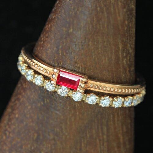 グリッシュ 重ねづけ 重ね着け 結婚指輪 マリッジリング 極細リング 華奢リング おしゃれ 人気 おすすめ 10金 K10 華奢 シンプル  ファッションリング ジュエリー