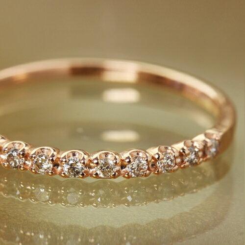 0.1ctシャンパンブラウンダイヤモンド 10金 エタニティリング 指輪・シャルルエール ピンクゴールド ホワイトゴールド イエローゴールド ピンキーリング対応 人気 おしゃれ デザインリング 重ねづけ 重ね着けリング 華奢 レディース 小指 誕生日 ファッションリング