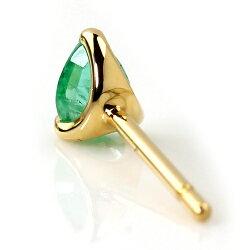 【送料無料】xxxBizoux0.3ctアップザンビア産エメラルド×ダイヤモンド×K18カラーゴールドピアス・ポワーレ