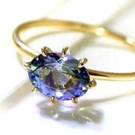 指輪 リング 18K タンザナイト・セパージュ イエローゴールド ピンクゴールド ホワイトゴールド セミオーダー シンプル 誕生石 デザイン 女性 レディース K18 18金 ファッションリング ブランド BIZOUX ビズー 送料無料 おしゃれ