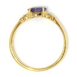 18Kバイカラータンザナイトダイヤモンドペンダントトップ・フラヴィリング指輪イエローゴールドピンクゴールドホワイトゴールドセミオーダーシンプル誕生石レディースBizouxビズー