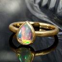 18K 18金 リング 指輪・セレーナラルム エチオピアオパール K18イエローゴールド ピンクゴールド 10月誕生石 ファッシ…