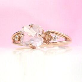 ローズクオーツ ピンクゴールド リング レディース 指輪・ミルティール 華奢 シンプル ファッションリング 可愛い ゆびわ ジュエリー ブランド 宝石 おしゃれ