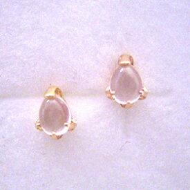 ローズクオーツ ピンクゴールドピアス レディース・アローム 華奢 シンプル 小粒 可愛いピアス ジュエリー ブランド 宝石