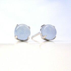 ブルージェイド K14ホワイトゴールドピアス レディース・ティルレ 華奢 シンプル 小粒 可愛いピアス ジュエリー ブランド 宝石
