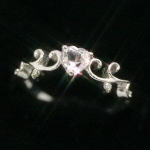 モルガナイト ダイヤモンドリング レディース 指輪・クレアラ 誕生日プレゼント 華奢 シンプル ファッションリング 可愛い ゆびわ ジュエリー ブランド 宝石 おしゃれ