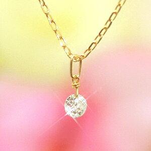 【あす楽対応】【送料無料】1,500本完売!輝きが違う揺れるダイヤモンド!SIクラス相当0.1ctダイアモンド 10K K10 10金 ゴールドネックレス レディース ペンダント・ティアレンス 誕生日プレゼント 女性 一粒ダイヤモンド ピンクゴールド ホワイトゴールド ジュエリー