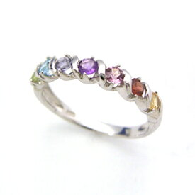 クーポンで最大3000円OFF!セブンストーン ホワイトゴールド・アミュレットリング レディース 指輪 誕生日プレゼント 華奢 シンプル ファッションリング 可愛い ゆびわ ジュエリー ブランド 宝石 おしゃれ