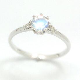 ダイヤモンド ロイヤルブルームーンストーン 6月誕生石リング リング レディース 指輪・ルナリシエール ピンキーリング対応 ファランジリング ミディリング 関節リング 誕生日プレゼント 華奢 シンプル ファッションリング 可愛い ゆ ブランド 宝石 おしゃれ