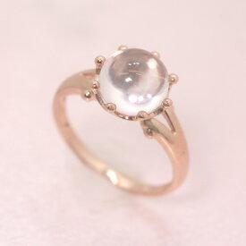ローズクオーツ ピンクゴールド リング レディース 指輪・セリーヌ 華奢 シンプル ファッションリング 可愛い ゆびわ ジュエリー ブランド 宝石 おしゃれ