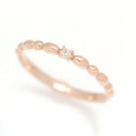 ダイヤモンド ピンクゴールドリング レディース 指輪 10K K10 10金・エクセリーヌ 華奢 シンプル ファッションリング 可愛い ゆびわ ジュエリー ブランド 宝石 おしゃれ