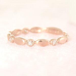 クーポンで最大15%OFF!ダイヤモンド ピンクゴールド リング レディース 指輪・プロンプティー 華奢 シンプル ファッションリング 可愛い ゆびわ ジュエリー ブランド 宝石 おしゃれ