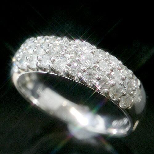 1.0ctダイヤモンド プラチナリング レディース 指輪・ラヴィエベル【レビュー好評】華やか パヴェリング 大人気 誕生日プレゼント 女性 ファッションリング 可愛い ゆびわ Pt900 ボリューム ゴージャス おすすめ 1カ