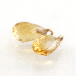 天然石アクセサリーチャームK10レディースピンクゴールドホワイトゴールド・キャンベル10金10Kピアスチャーム、イヤリングチャームジュエリー誕生石しずくドロップガーネット淡水パール真珠ブルームーンストーントパーズカラーストーン