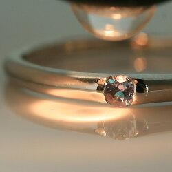 10金アレキサンドライトカラーゴールドリングレディース指輪・クリスターシェエメラルドマイン社10KK10カラーチェンジチェンジカラー変色する宝石シンプル
