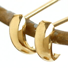 【あす楽対応】セカンドピアス レディース K18 18K 18金 ゴールド・クイーヌ 地金 つけっぱなし フープピアス風 華奢 シンプル 軸太 ポストが太い 上品 上質 曲線 可愛いピアス 金属アレルギー対応 誕生日プレゼント 女性 ジュエリー 福耳 おすすめ 人気 ブランド