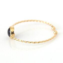 11カラージュエルリング指輪レディースジュエリーピンキーリング・ピュリエールK1010K10金サイズ調整可能華奢シンプル極細リング重ねづけカボション誕生日プレゼント女性