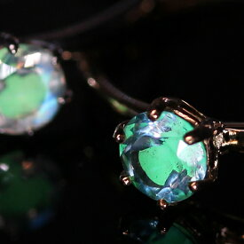 リング 指輪 レディース ジュエリー 暗闇で光る蓄光ジュエル・エルアミーレ K10 10金 蓄光 カラーチェンジ エミリアブルームーンストーン ブルートパーズ 夏 涼やか ひんやり ファッションリング 誕生日プレゼント 女性 一粒 ブランド 宝石 おしゃれ