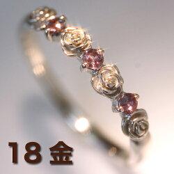 エメラルドマイン社ブラジル産アレキサンドライト10Kホワイトゴールドピンクゴールドリングレディース指輪・ミリアン・ローズ大人気のバラ薔薇ばらカラーストーンモチーフカラーチェンジチェンジカラー変色する宝石