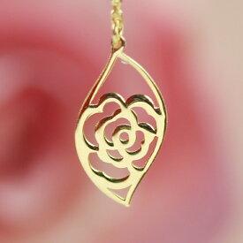 【あす楽対応】ピアス 18K ゴールドアメリカンピアス・ディロゼッサ 地金 バラモチーフ 薔薇の花 揺れる ロングピアス チェーンピアス 大人可愛いピアス 1