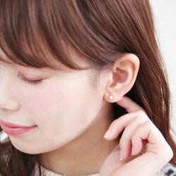 セカンドピアスレディース18K軸太0.8mm長さ12mmゴールド・ラブレッサ淡水パール真珠オープンハートモチーフ可愛いピアス18金K18スタッドピアス華奢シンプルポストが太い安心ノンアレルギーアレルギー対応福耳おすすめ