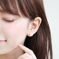 セカンドピアスレディース18K軸太0.8mm長さ12mmゴールド・ジュイキュービックジルコニアパヴェボールモチーフ可愛いピアス18金K18スタッドピアス華奢シンプルポストが太い安心ノンアレルギーアレルギー対応福耳おすすめ