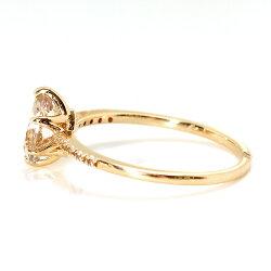 ミスティローズトパーズネックレスロゼシャルマンK10レディースペンダントバイカラー11月の誕生石ネックレス華奢シンプル高品質ジュエリーブランド宝石