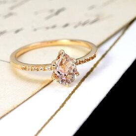 ミスティローズトパーズ リング 指輪 ゴールド・ロゼファシナン 10K K10 10金 カラートパーズ レディース バイカラー 11月の誕生石 華奢 シンプル 高品質 ファッションリング 重ねづけ 重ね着け ジュエリー ブランド 宝石