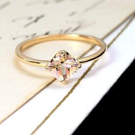 ミスティローズトパーズ リング 指輪 ゴールド ロゼシャルマン K10 レディース バイカラー 11月の誕生石ネックレス 華奢 シンプル 高品質 ファッションリング 重ねづけ 重ね着け ジュエリー ブランド 宝石