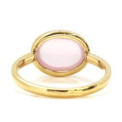 ピンクオパールリング10Kイエローゴールドレディース指輪・ハウ大粒ボリュームリングK1010金ファッションリング10月の誕生石リングピンク色桜色ジュエリーブランド一粒リング宝石おしゃれ