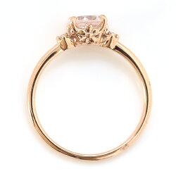 【3月31日までの特別価格】さくらインカット桜色の天然石リング指輪10Kピンクゴールドレディース・トワザクラローズクォーツローズアメジスト可愛いプレゼント2月誕生石モチーフブランド