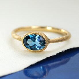クーポンで最大5000円OFF!ロンドンブルートパーズ リング 10K イエローゴールド レディース 指輪・アウラディア K10 10金 大粒 一粒 ファッションリング 11月の誕生石リング 青い宝石 ジュエリー ブランド 一粒リング おし