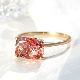 【GEM EDEN】【B〜K】ストロベリークォーツ K10 イエローゴールド リング・グレイン 指輪 苺水晶 レピドクロサイト 稀少石 一粒リング ブランド おしゃれ