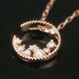 【今だけ20%OFFセール】【あす楽対応】数量限定0.1ctダイヤモンド カラーゴールドネックレス・ラムーンテニア大人気の三日月カラーストーン モチーフ! 誕生日プレゼント 女性 ブランド 宝石 クリスマスプレゼント 自分へのご褒美
