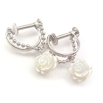 667a40fd997 Rose / rose motif ・・! that 9 color jewel X color gold earrings fair Bianca  is elegant (pink gold / white gold)