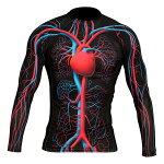 心臓血管循環系サイクルスーツ「循環系ラッシュガード(ロング)」トレーニング自転車サイクリングサイクルスーツ速乾性伸縮性