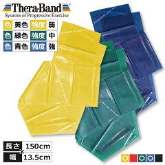 セラバンド3強度セット(Theraband)(イエロー弱&グリーン中&ブルー強各1.5m)