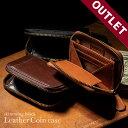 【アウトレット】コインケース 財布 スキミング防止 イタリアンレザー ブライドルレザー 財布 薄型 メンズ 本革 大容…
