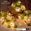 ガーランドライト ROSE ローズ【光る ガーランド 部屋 デコレーション ライト 飾り LED 照明 間接照明 バラ 薔薇 お花 フラワー 光る花…