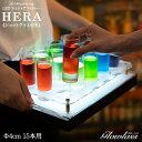 《ショットグラス付き》15本用 Φ4cm LEDショットグラストレー【Hera】GLOWLASS【光るグラス 光るショットグラス 光る…