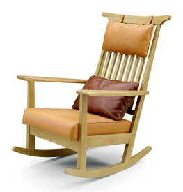 ロッキングチェア 安楽椅子 イス ローズマリー ROSEMARY R-012 天然木 オーク 本革 セラウッド クッション GREEN グリーン【smtb-KD】【P10】