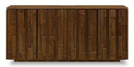 サイドボード リビングボード キャビネット イーリス IIRIS 幅156cm リビング ランダム 立体 天然木 ウォールナット モダン 無垢 収納 引出し 開梱・設置サービス【smtb-KD】